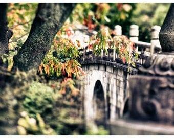 Travel Photography, Bridge, Kyoto Japan, Metallic Photographic Print
