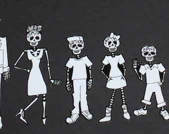 Sugar Skull Family Stickers #62-68