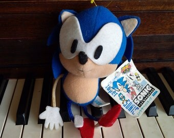 Sonic The Hedgehog Plush Toy SEGA Vintage Toy Collectible RARE