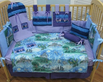 Fairy tale 13 Piece Baby Girl Bedding Crib Set   ***LAST ONE***