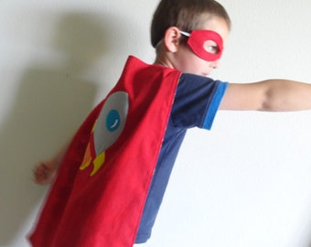 Rocket Spaceship Cape and Mask