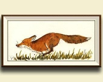 PRINT-Baby Red Fox - Art Print by Juan Bosco