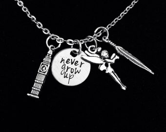 Never Grow Up Charm Necklace