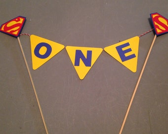 Superman cake topper, Superman party decoration, Super hero party,  Smash cake topper
