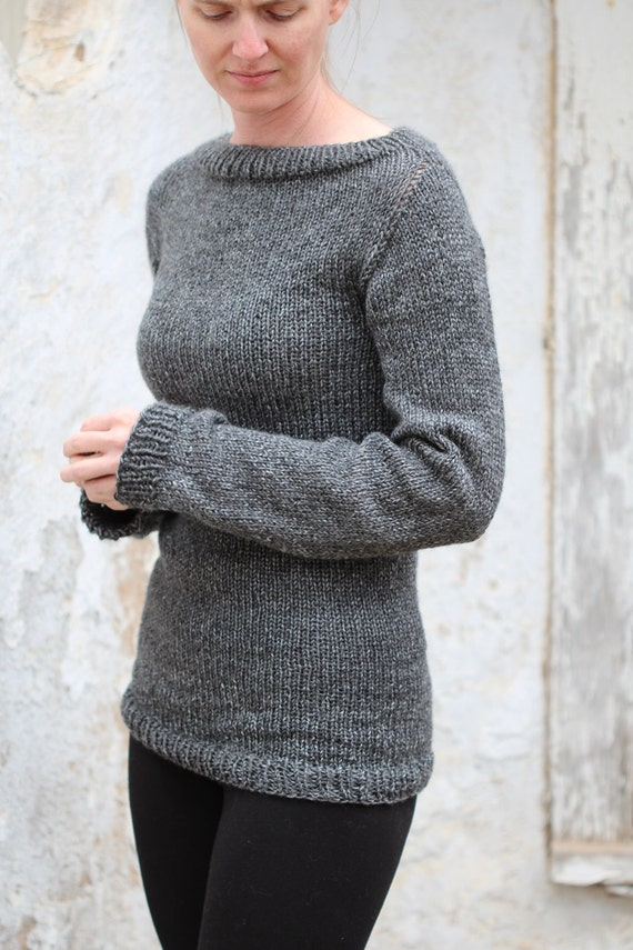 Knit Sweater Knitting Pattern - Great beginner sweater pattern - DISCIPLINE f...