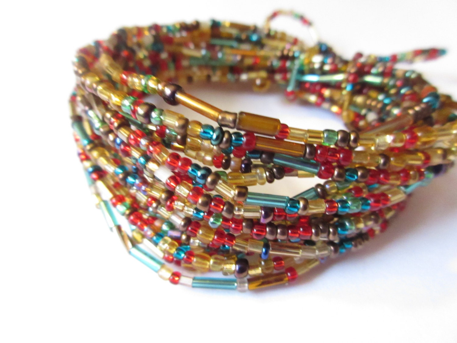 bead garland wire beaded garland gold by