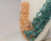 Glass Chip Bead Multi Strand Knotted Bead Necklace Anthropologie Inspired