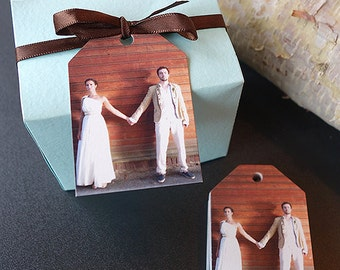 75 Wedding Favor Thank You Gift Tags with Photo