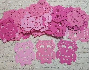 50 Adorable, Die Cut Owls.  #T-5