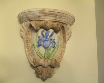 Large Corbel Sconce with Iris