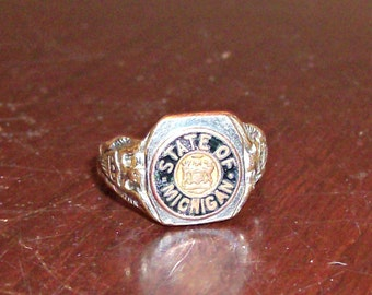 Vintage State of Michigan Ring