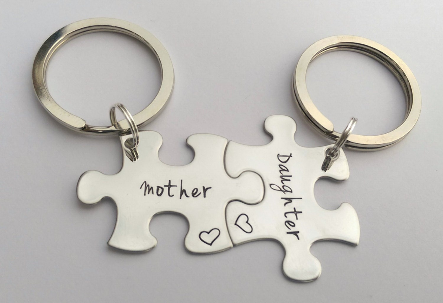 Personalised mothers day keyrings - mother and daughter keyrings set - mum daughter matching set - personalised mothers day gift present