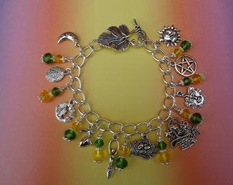 Ostara Spring Equinox Charm Bracelet - Wiccan -Pagan -sabbat- festival