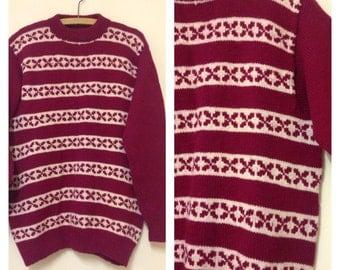 Vintage Wool Patterned Jumper