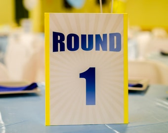 Boxing Table Numbers 1-5 Print 8x12
