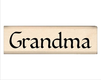 Grandma - Name Rubber Stamp for Kids