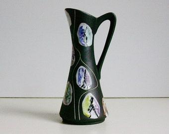 "Mid Century Bay keramik ceramic jug vase "" KONGO "" by Bodo Mans West Germany WGP"