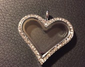 Heart Living Locket - Fits Origami Owl Charms