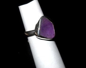 Sterling silver ring with Amethyst stone