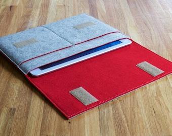 iPad Mini Case / iPad Mini Sleeve  / iPad Mini Cover - Various Outer and Inner Colours - 100% Wool Felt