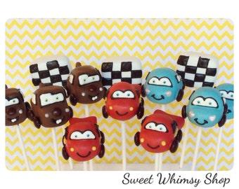 12 Race Car Cake Pops with Checkered Race Flags Porsche Corvette and Tow  sc 1 st  Etsy & 21 Cake Pops for London England British party favor UK Aboutintivar.Com