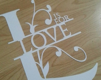 Floral L is for love *PERSONAL USE* cut your own papercutting template