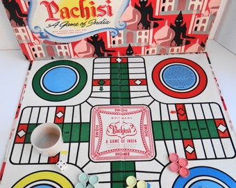 Vintage Copyright 1945 Whitman's Pachisi Board Game - Pachisi A Game of India - Original in Box