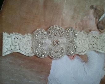Wedding Toss Garter - Crystal Rhinestone  - Style TG136