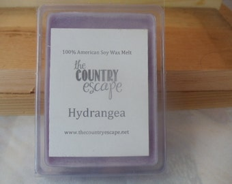 Hydrangea Scented 100% Soy Wax Melt - Lovely Floral Scent - Maximum Scented
