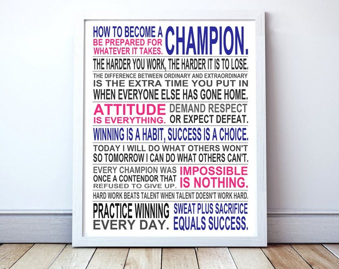 Champion - Original Manifesto Poster Print