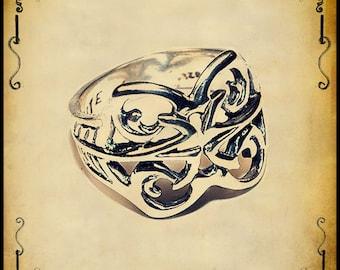 Elanath medieval ring - Sterling silver 925