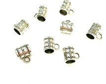 Sale European Style Tibetan Silver Large Hole Spacer Beads Slider Charm Bail Pandora Chamilia Troll Biagi Style