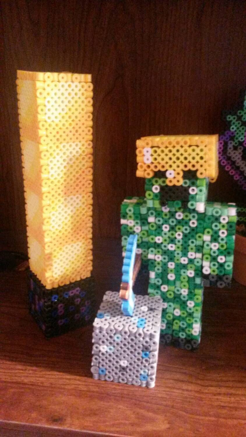 3D Minecraft Custom Create your own Skin Perler
