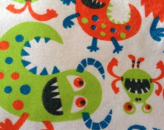 A monsters and more monsters on a white background  fitted crib /toddler sheet