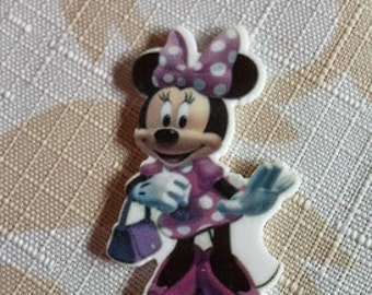 Minnie mouse resin- Minnie mouse center- embellishment-crafting centers- hair bow centers