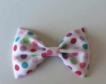 Multicolor dots bow rainbow dot bow