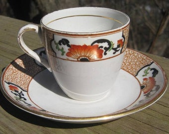 Japanese Style Demitasse Cup and Saucer