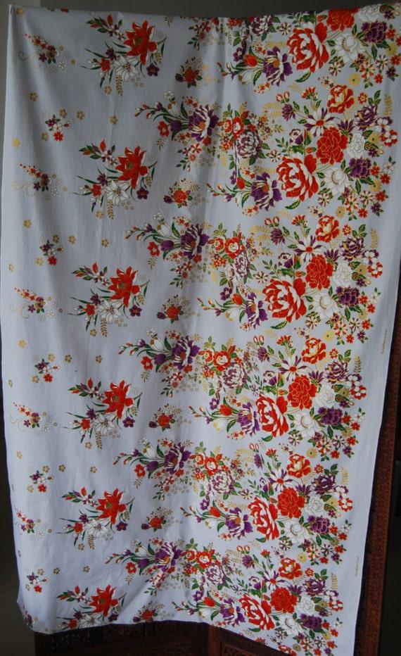 items similar to malaysian batik fabric with gold motifs