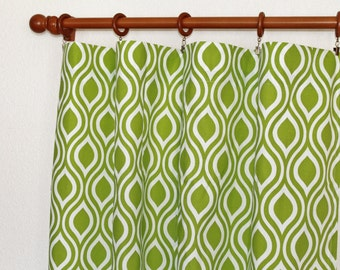 Chartreuse curtain | Etsy