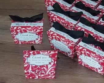 Personalized Belgian Chocolate Wedding Favors, Vintage Wedding Favors, Chocolate Favors, Elaine Print