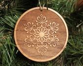 Wooden Snowflake Ornaments - Holiday Ornaments