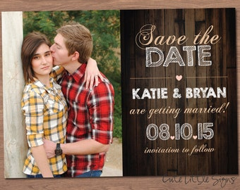 Wood Engagement Announcement Digital Download