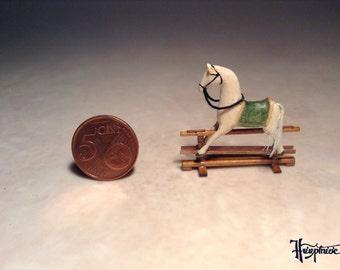 Miniature rocking horse made of wood - Item number: MRH 37
