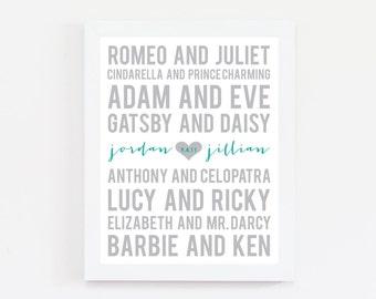 Famous Couples Print