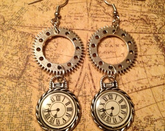 Chronometry Steampunk Earrings
