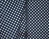 JERSEY KNIT FABRIC -  Navy Small Dots jersey knit Lycra - Riley Blake 1/4 inch dot  - Fabric by the yard - Half Yard