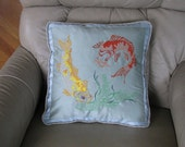 Koi Embroidered 16 inch C...