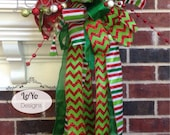 Patricia Loyd - Christmas Tree Topper, Funky Bow, Whimsical Bow, Christmas Bow, Christmas Tree Topper Bow