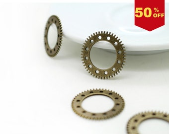 10 pcs gears / gear charms / charm / findings / jewelry accessories / gear findings #1694