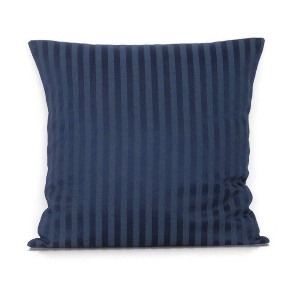Blue Striped Throw Pillow Cover : Navy Blue Stripe Lumbar Pillow Cover Navy Throw Pillow Cover